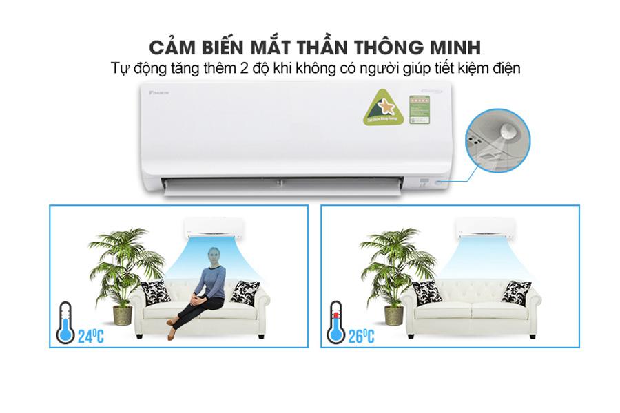 Điều chỉnh nhiệt độ phòng 23-28 độ